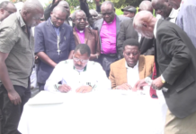Bungoma Senator Moses Wetangula and devolution CS Eugene Wamalwa have agreed to set aside their differences