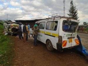 The scene of the accident at Kipkaren market