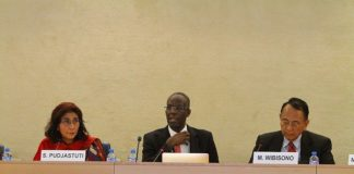 UN working group on business and human rights member Michael Addo (centre) said the government must now walk the talk with a solid legal framework in place