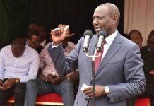 Deputy President William Ruto speaking at Zawadi secondary school in Nairobi County