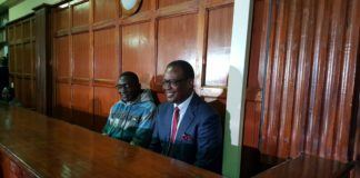Former Nairobi Governor Evans Kidero and Maurice Okere in court