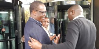 Former Nairobi Governor Evans Kidero at the EACC offices