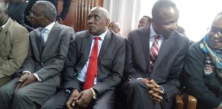 NLC chairman Mohammed Swazuri and other accused persons pleaded not guilty to charges of conspiracy to defraud government Kshs 221,375,000