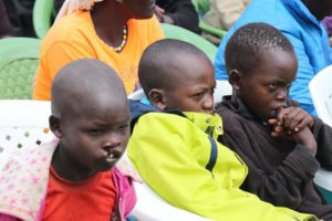 Some of the children who turned up to undergo surgery