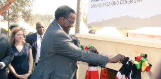 Chief Justice David Maraga at the ground breaking ceremony for the Kahawa court at the Kamiti Maximum Security Prison Complex
