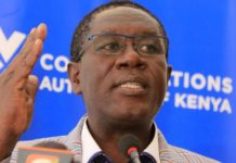 Communications Authority of Kenya director general Francis Wangusi