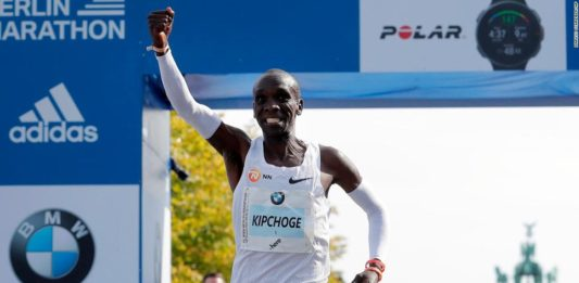 Eliud Kipchoge set a marathon world record in Berlin and the Kipchoge Keino stadium will be renamed in his honor
