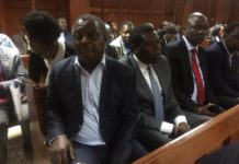 Former Lugari MP Jirongo paid a cash bail of Kshs 5 million and Devolution CS Eugene Wamalwa gave his car as surety
