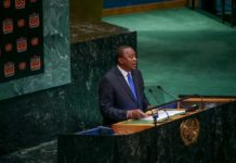 President Kenyatta speaking at the UNGA summit in New York.(PHOTO/PSCU)