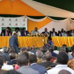 The public hearing session between the Senate Ad-Hoc Committee on maize and farmers in Uasin Gishu County