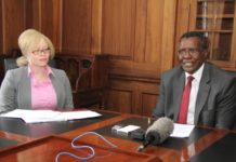 UN independent expert on the enjoyment of human rights of people living with albinism Ms. Ikponwosa Ero when she paid a courtesy call to Chief Justice David Maraga