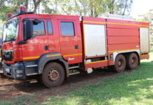 Busia County Fire Engine that also serves Siaya County and Eastern Uganda