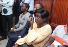 Jacque Maribe and Joseph Irungu in court on Wednesday