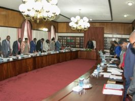 President Kenyatta led the Cabinet meeting at State House