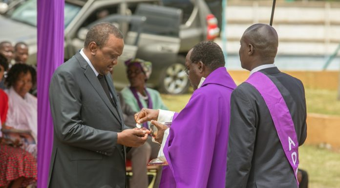 President Kenyatta has called for a closer working relationship between the State and the Church. (PHOTO/PSCU)