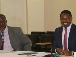 Agriculture CS Mwangi Kiunjuri (right) has said the composition of the sugar task force shouldn't be politicized