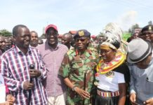 Several leaders were present at the peace race including West Pokot Governor Lonyangapuo and IG Boinnet