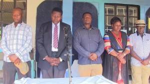 leaders from left WafulaLazaro Eugine Wamalwa John Waluke, Janet Nangabo & director general Francis Wangusi at a past funcion./Photo/Leonard Wamalwa/West Fm