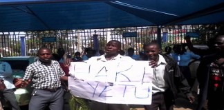 Protesting bungoma county ,union,workers