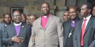 ACK Archbishop Jackson Ole Sapit (centre) has urged all arms of government to work together