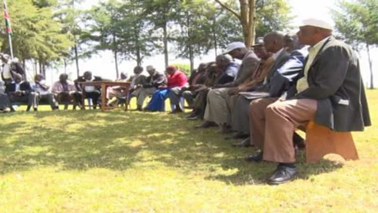 The government and residents in a baraza concerning the Chesumei sub county headquarters