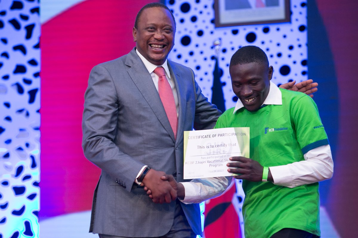 President Kenyatta supports the youth