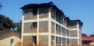 Butula Boys school that was burnt