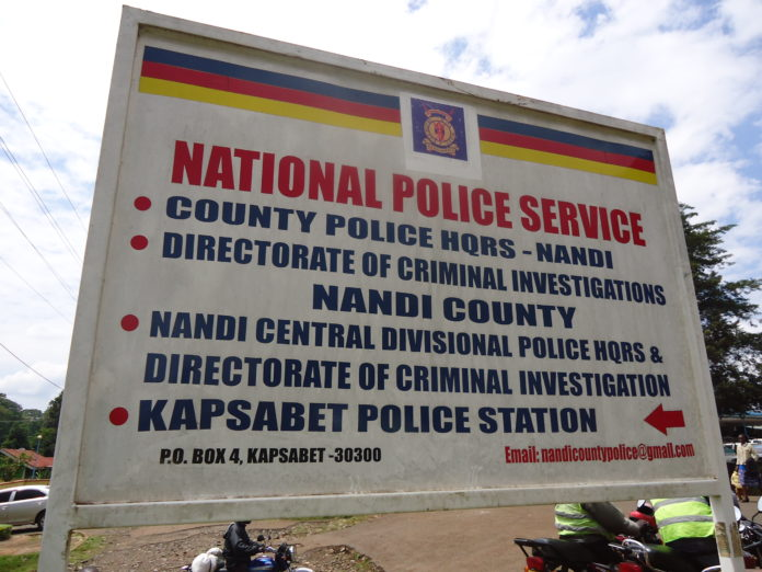 The Kapsabet police station where the suspect is held