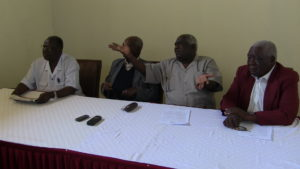 The elders during the press briefing