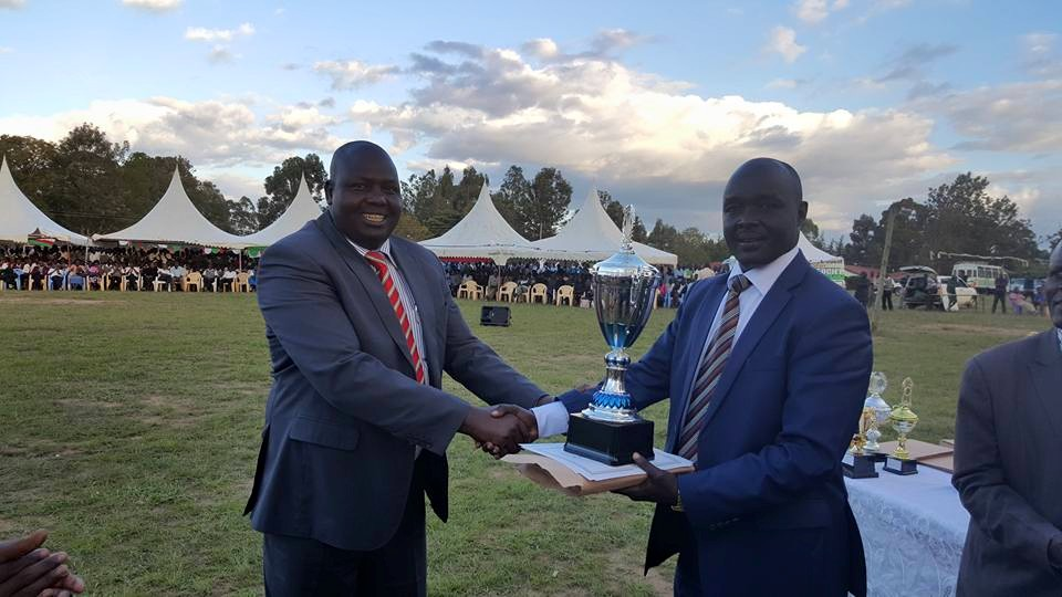 County Chairperson Peter Lochakapong during a past function with Governor Simeon  Kachapin