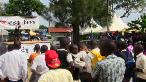 A section of fans under the West Media stand at the Bungoma ASK Show