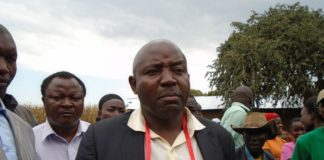 Lugari MP Ayub Savula when he spoke to the press at Ivona East Primary School in his constituency