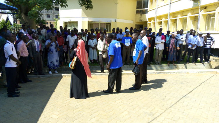 The group of people living with hearing disabilities at the Bungoma County offices