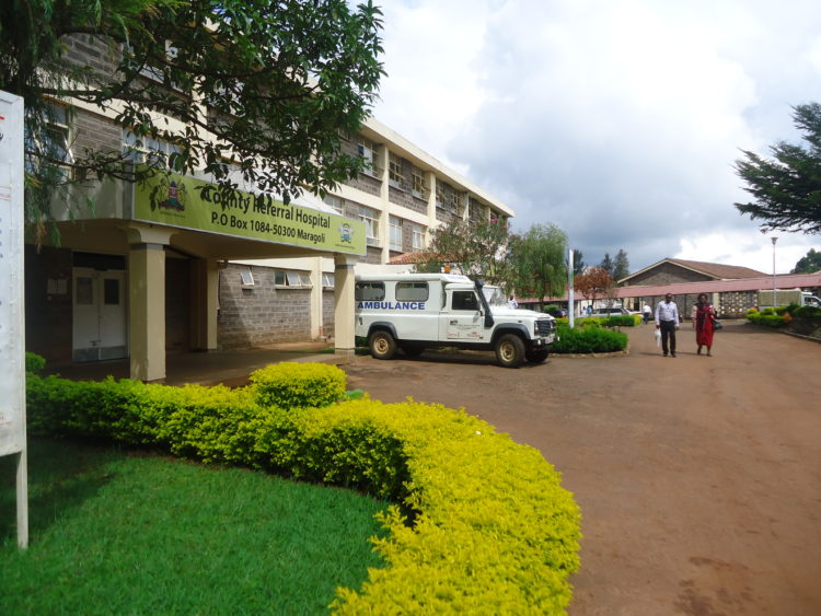 Vihiga referral hospital has been forced to admit many patients as a result of the Kakamega nurses' strike