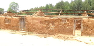 Dilapidated classrooms were demolished in Tilak primary school after a notice was given by the Public Health department