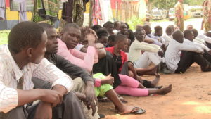 A section of the youth at the Bungoma police station
