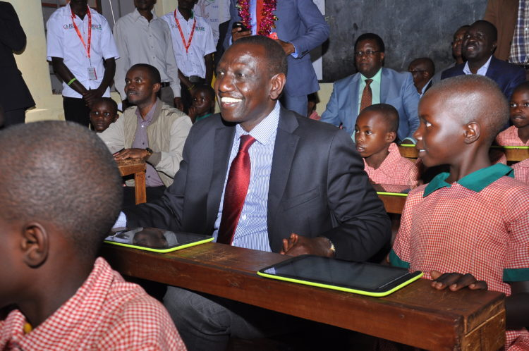 Deputy President William Ruto during the launch of the Digital Literacy Programme in Kakamega