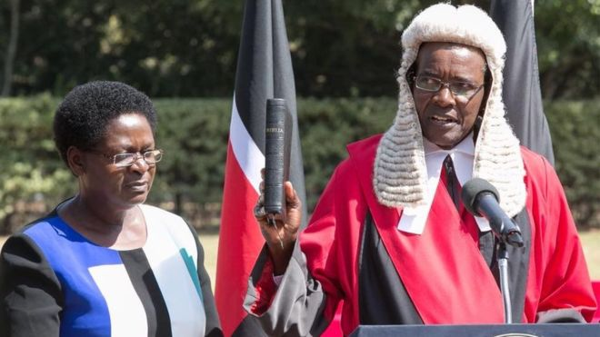 Chief Justice David Maraga at his swearing in
