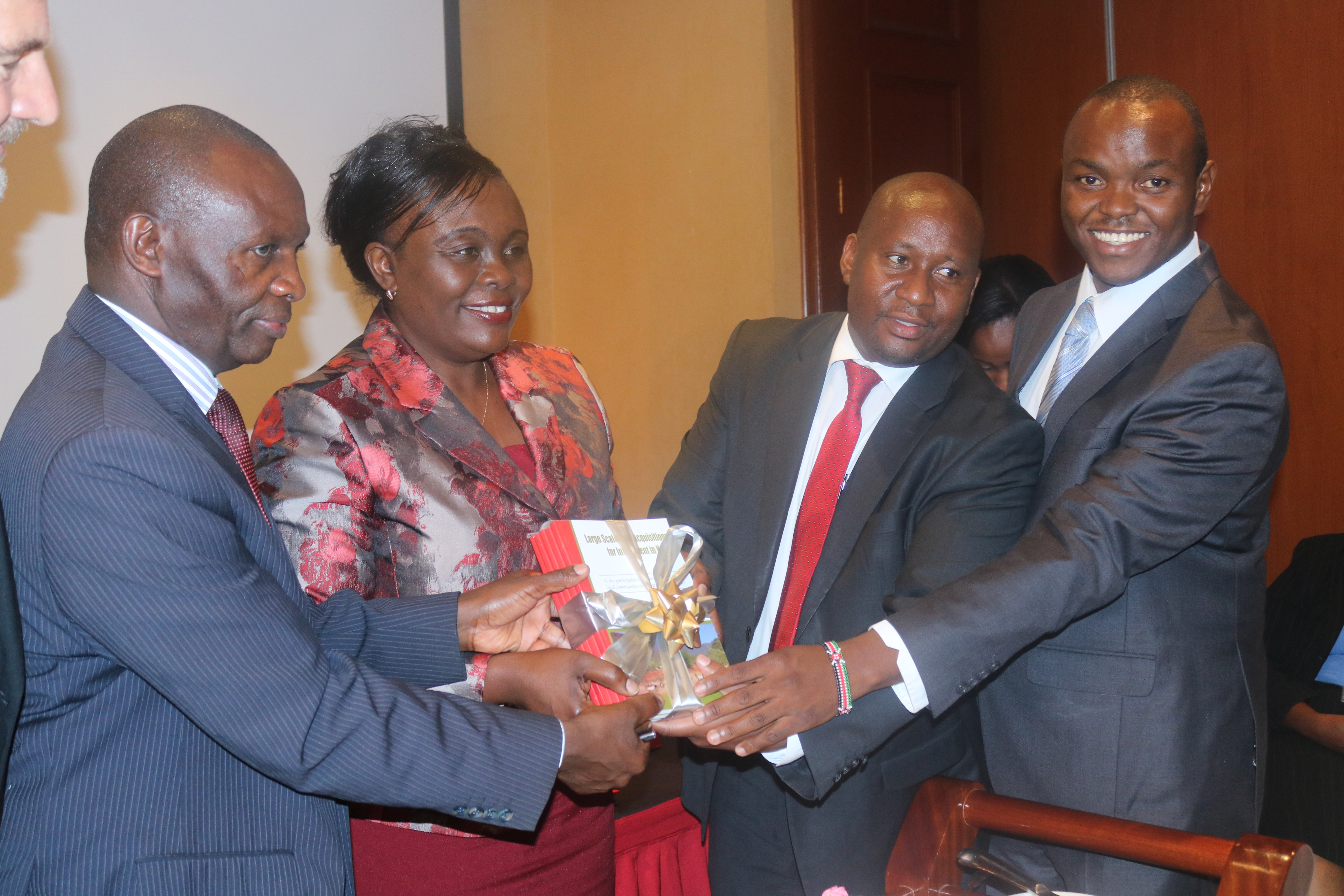 LDGI chairman Ibrahim Mwathane during the launch of the 'Large Scale Land Acquisition for Investments in Kenya' study.