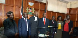 Media Council Complaints Commission members and chairman during the swearing in
