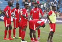 The Kenya national football team Harambee Stars