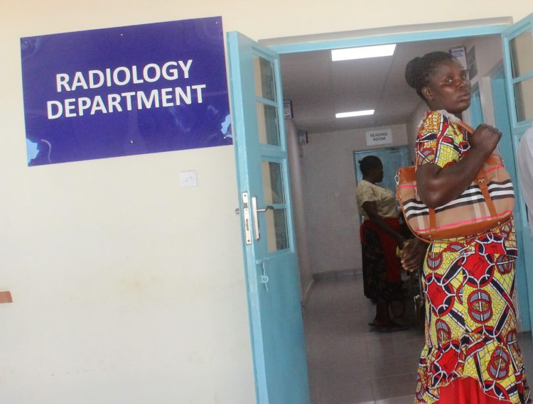 Radiology Department where victim was taken for examination
