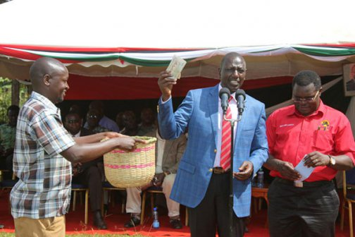 Image result for ruto donating