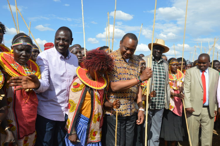 President Kenyatta has launched projects geared towards development in West Pokot