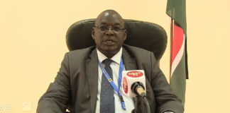 Kibabii University VC professor Isaac Odeo Ipara speaking to West Media in his office