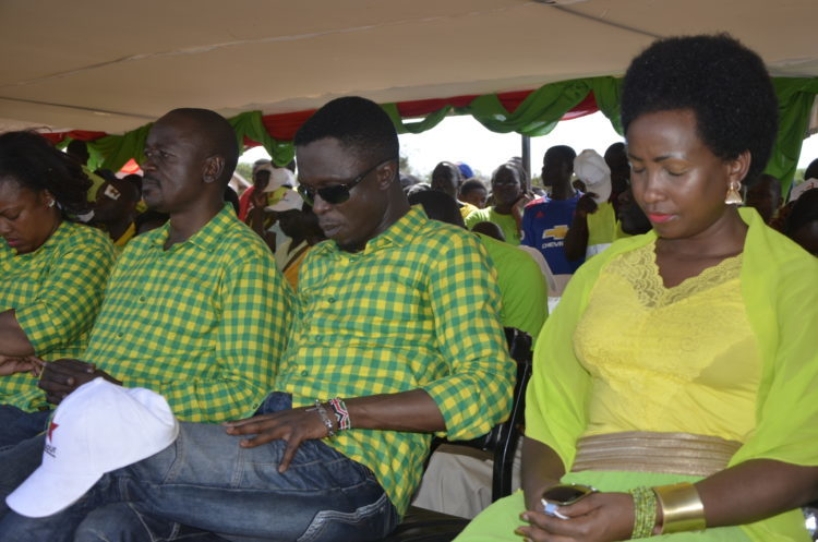 LPK party leader Ababu Namwamba and his wife accompanied by other officials