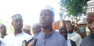 Muslim leaders from Vihiga County addressing the press