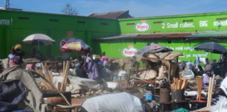 Part of the market in Bungoma Town