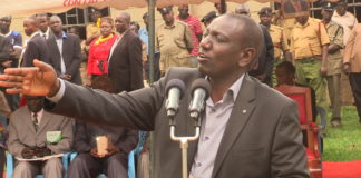 DP William Ruto as he addressed the crowd at Shanda Sub County headquarters