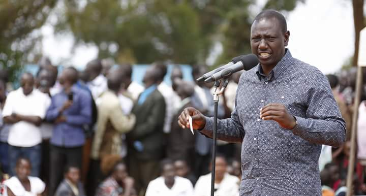 Deputy President William Ruto addressing residents